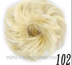 Резинка с волос накладная  гулька  накладной пончик  бублик  хвост в прическу для прически, фото 3
