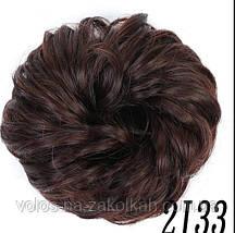 Резинка с волос накладная  гулька  накладной пончик  бублик  хвост в прическу для прически, фото 2