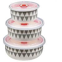 Набор салатников с крышками Stenson MC2700, 3 шт