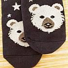 Носки женские махровые новогодние высокие Добра Пара 23-25р медведь тёмно-синие 20038953, фото 4