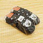 Носки женские махровые новогодние высокие Добра Пара 23-25р медведь тёмно-синие 20038953, фото 6