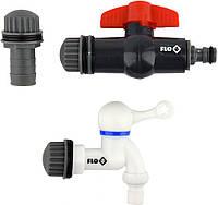 """Вентили для сборного бака дождевой воды из ПВХ FLO Ø3/4"""" 3 шт Flo 89081, фото 1"""