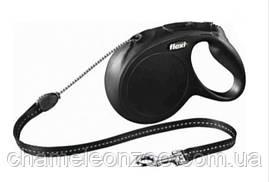 Поводок-рулетка Flexi New CLASSIC 5м до 20 кг чорна (TX-11791)