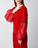Нарядное красное платье миди. Турция, фото 2