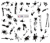 Слайдер водный для дизайна ногтей BN-1234