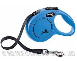 Рулетка-повідець Flexi New Classic М 8 м трос для собак до 20 кг/5 метрів