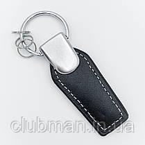 Брелок для ключей кожаный для BMW M БМВ черный с белой ниткой, фото 3