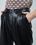 Брюки женские с экокожи Its Basic.Турция, фото 2