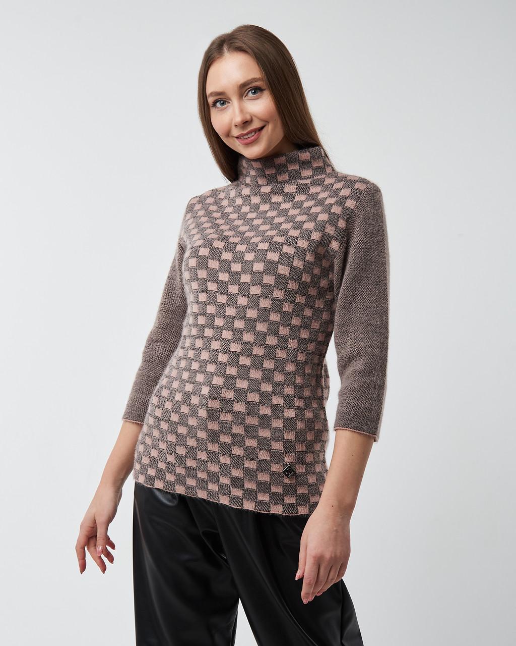 Женский свитер Serianno  с воротником стойкой. Турция