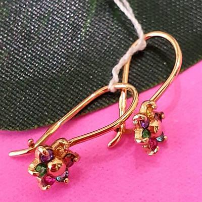Дитячі золоті сережки Аленький цветочек