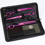 """7"""" дюймов комплект 3 шт. профессиональных ножниц  для стрижки домашних животных для груминга Univinlions, фото 7"""