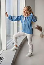 """Блуза с элементами вышивки  """"Матылек"""" 104 - 134 по росту, фото 3"""