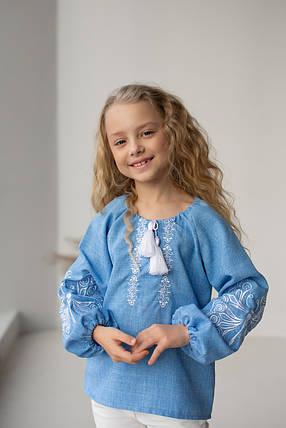 """Блуза с элементами вышивки  """"Матылек"""" 104 - 134 по росту, фото 2"""