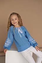 """Блуза с элементами вышивки  """"Матылек""""  140 - 170 по росту, фото 3"""