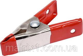 """Струбцина пружинна- """"прищіпка"""", металева : L= 100 мм, раб. висота/глиб.- 25/25 мм YATO"""