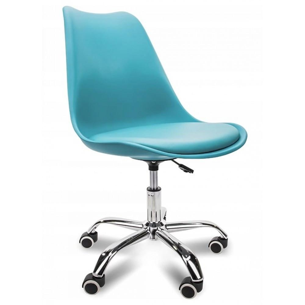 """Кресло офисное Bonro B- 487 на колесах СИНЕЕ """" Нагрузка 120 кг"""