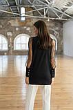 Стильная женская комбинированная блузка 23-2, фото 5