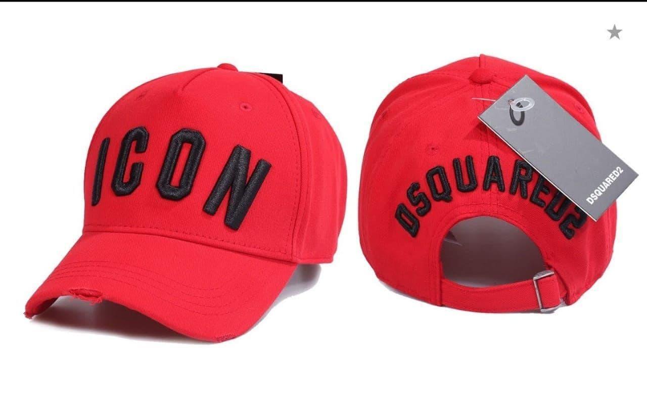 Брендовая кепка Dsquared2 ICON CK1559 красная