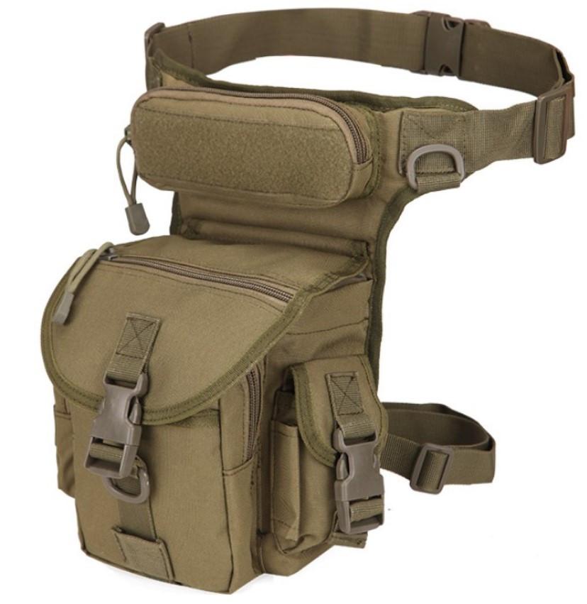 Сумка тактическая поясная Tactical Pro набедренная цвет олива  объем 4 литра