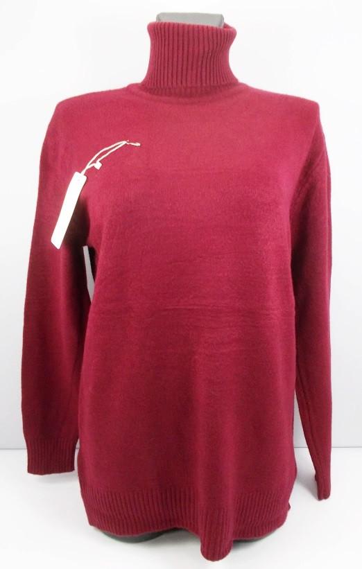 Гольф свитер плотный кашемир 001 размер 50-58 бордовый