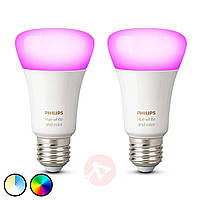 Philips Hue White and Color Ambiance E27 2szt. 929002216803, фото 1