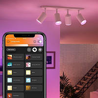 Philips Hue White and Color Ambiance Fugato White 5063431P7, фото 1