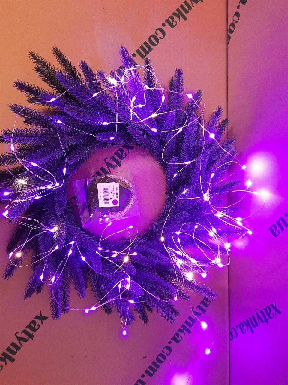 Новогодняя светодиодная гирлянда РОСА 100 LED, 10м фиолетовый