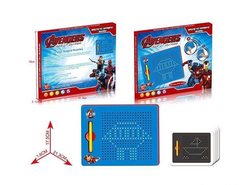 """Досточка магнитная """"AVENGERS"""" в коробке  380-04-05-06-07"""