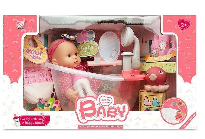 """Пупс """"BABY"""" с ванной с аксессуарами, в коробке 7125-1"""
