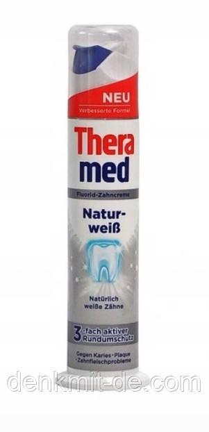 Зубная паста с дозатором TheraMed Natur-weib, 100 мл