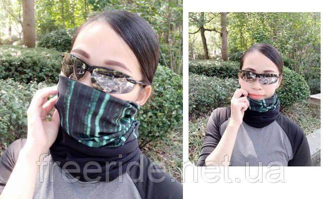 Зимний бафф с флисом, теплый шарф (матрица), фото 2
