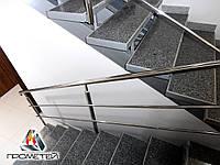 Оградительные стальные конструкции с 2-мя ригелями, AISI 304, поручень Ø50 мм, стойка Ø42 мм, 3 ригеля Ø16 мм, фото 1