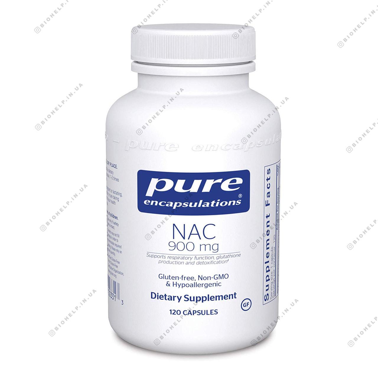 Pure Encapsulations NAC 900 mg, 120 Capsules. USA