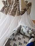 """Комплект постельный """"Koss"""" в детскую кроватку, с бортиками и балдахином, фото 2"""