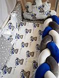 """Комплект постельный """"Koss"""" в детскую кроватку, с бортиками и балдахином, фото 3"""