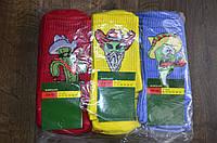 Носки унисекс молодежные с приколами р-ры 39-42 (1уп-12 пар) цвета миксом
