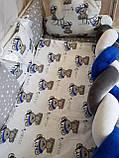 """Комплект постельный """"Koss"""" в детскую кроватку, с бортиками и балдахином, фото 4"""