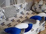 """Комплект постельный """"Koss"""" в детскую кроватку, с бортиками и балдахином, фото 5"""