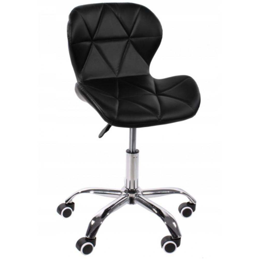 """Кресло BONRO 531 Черное Стеганое на Колесах"""" Нагрузка 120 кг"""