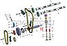 406.1000103 Втулка вала промежуточного двигателя ВОЛГА, ГАЗЕЛЬ (комплект) (пр-во ЗМЗ), фото 4