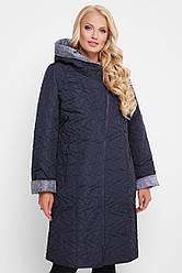 Демісезонне пальто Косуха чорниця