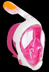 Інноваційна маска для снорклінга підводного плавання Easybreath рожева