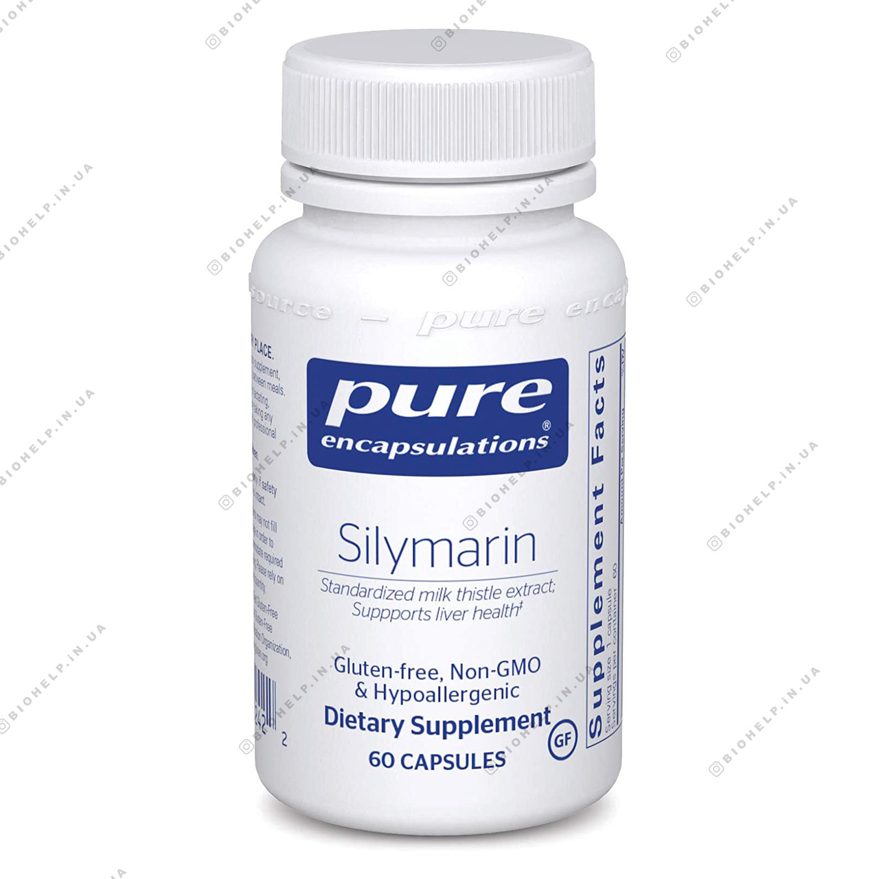 Pure Encapsulations Silymarin 250 mg 120 caps Силимарин 250 мг.