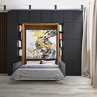 Шкаф-кровать-трансформер с фотопечатью, фото 1