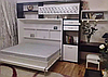 Шкаф-кровать-трансформер с фотопечатью, встроенная в стенку