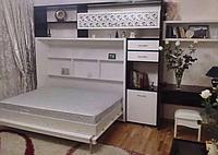 Шкаф-кровать-трансформер с фотопечатью, встроенная в стенку, фото 1