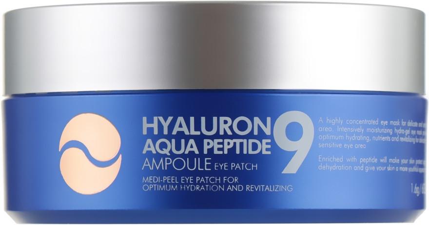 Гидрогелевые патчи под глаза с пептидами Medi-Peel Hyaluron Aqua Peptide 9 Eye Patch 60 шт