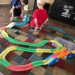 Magic Tracks 360 деталей Mega Set Детская Игрушечная Дорога Трек (2 машинки)