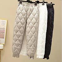 Р 42-50 Теплые стеганные штаны на синтепоне 23191