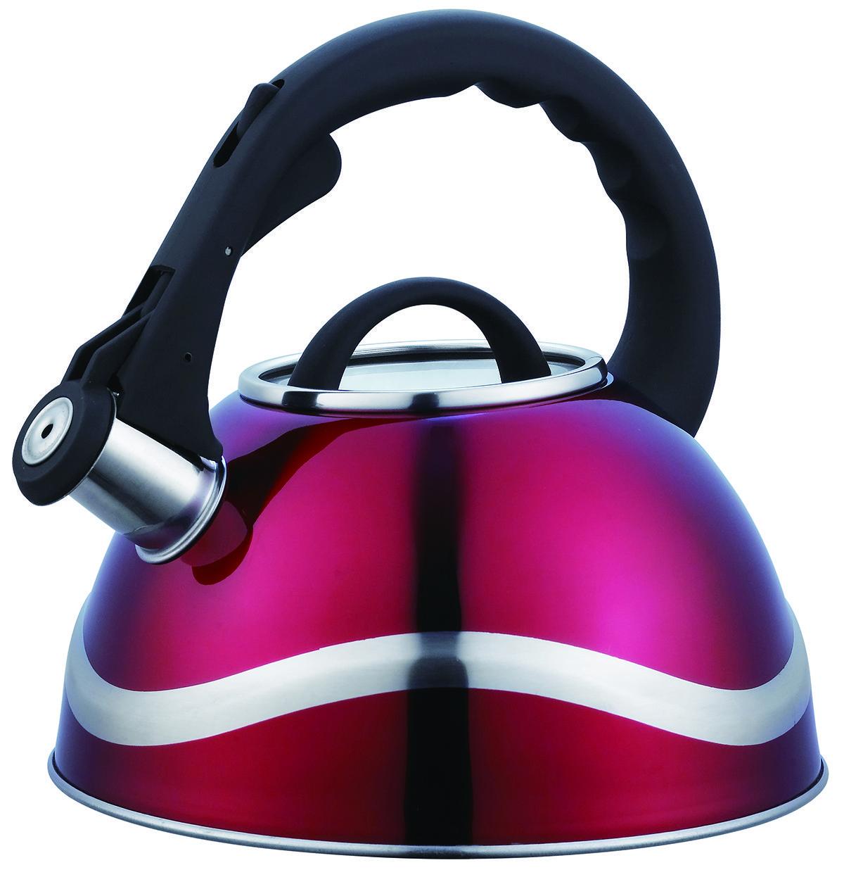 Чайник зі свистком з нержавіючої сталі Benson BN-707 (3 л), нейлонова ручка, індукція   свистить чайник